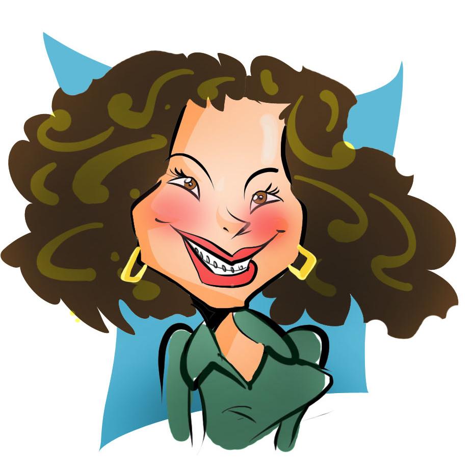 Caricatura da Paula Evento Basf