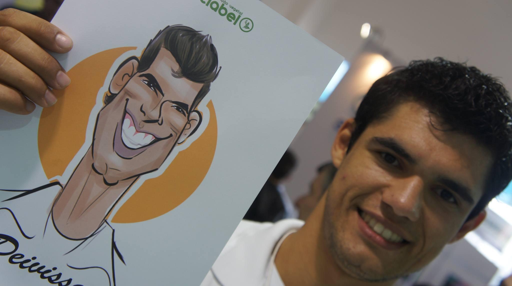 Caricaturas ao vivo em papel para a Atlabel