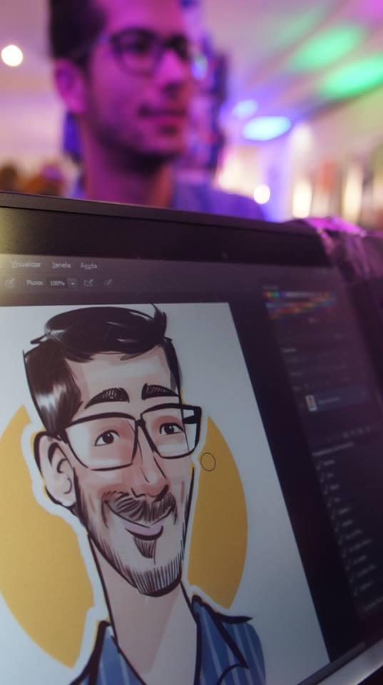 Caricaturas ao vivo em Canecas na Eletrolar 2015