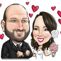 Caricaturas por encomendas , caricatura digital para casamento ou festas