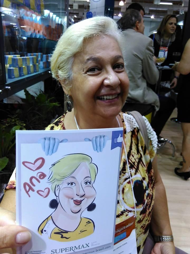 Caricaturas em papel ao vivo Hospitalar 2016