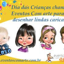 Caricaturas ao vivo Dia das Crianças